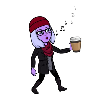 Bitmoji Tina Coffee